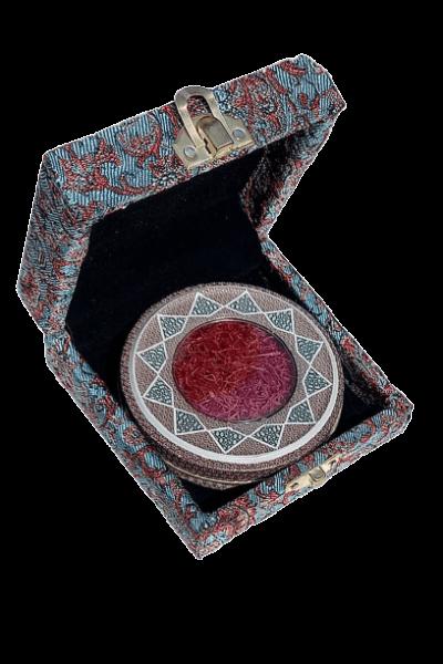 پک هدیه جعبه ترمه زعفران یک مثقالی
